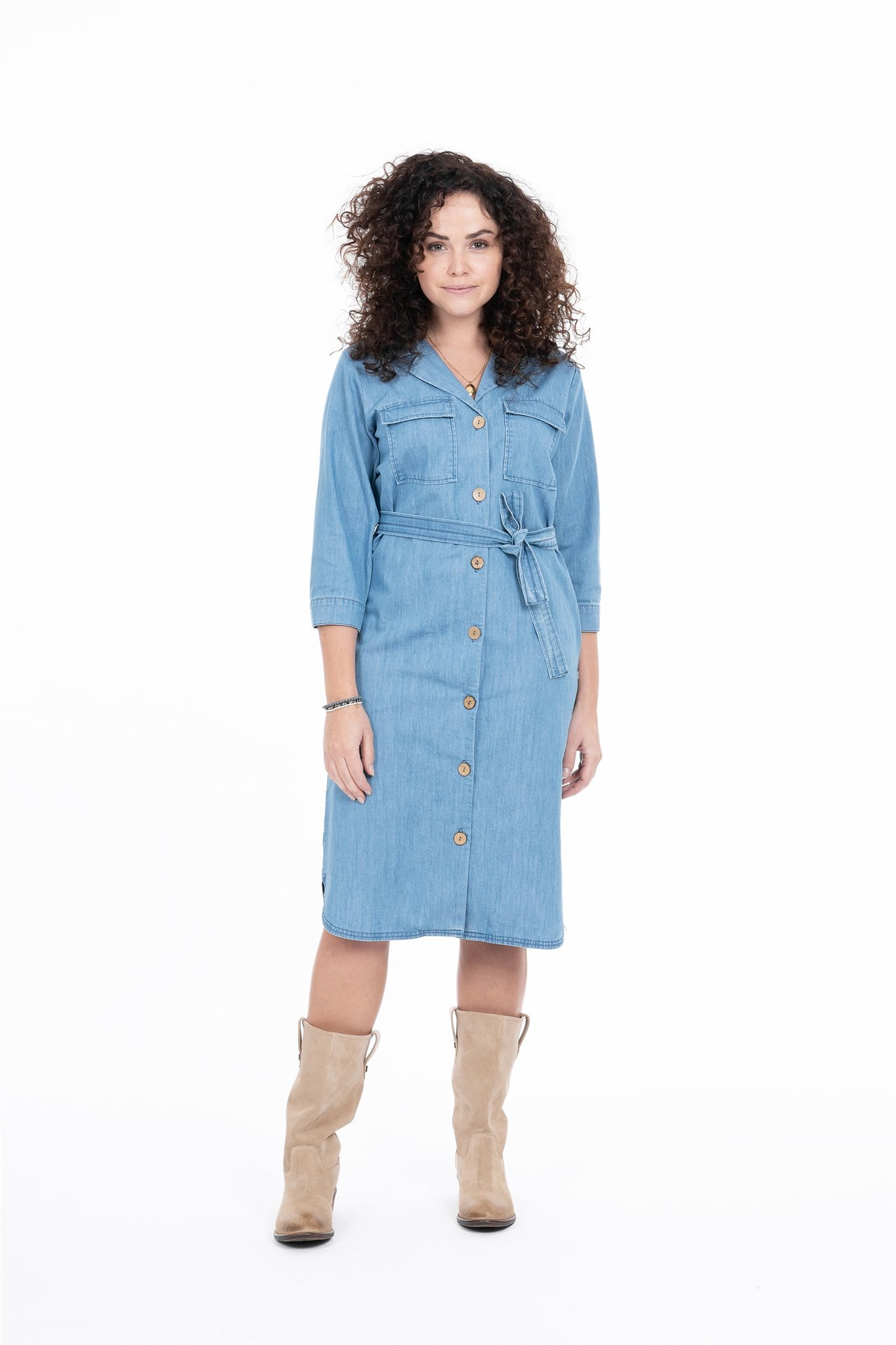 Doorknoopjurk Jeans