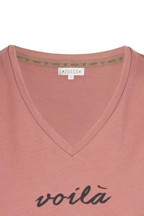 T-shirt Basic met V-hals