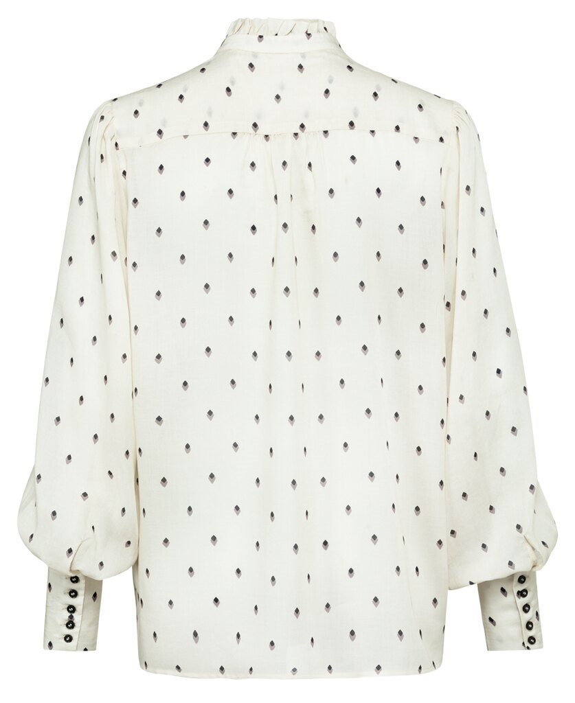 Blouse printed button