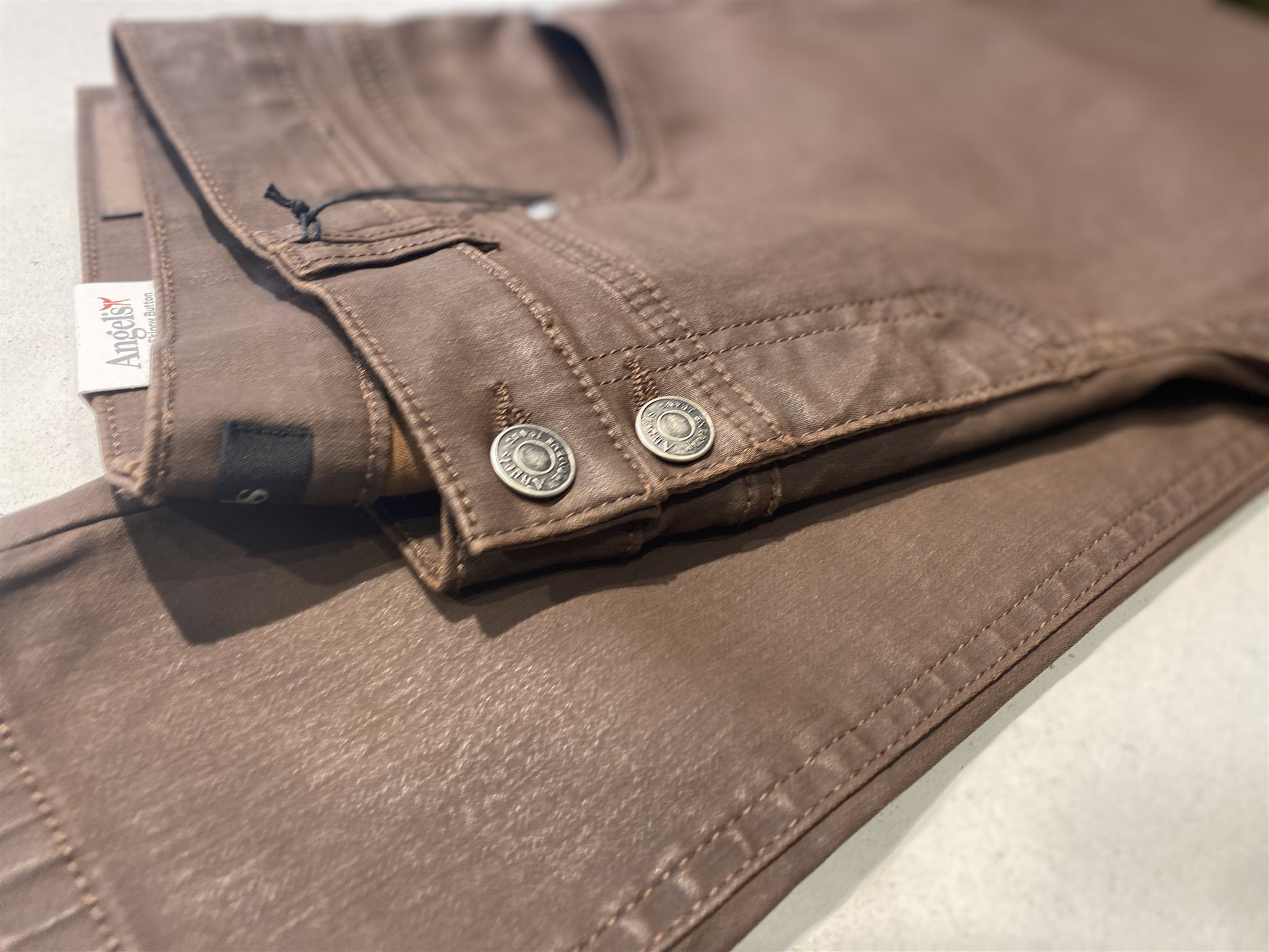 Broek Skinny Button