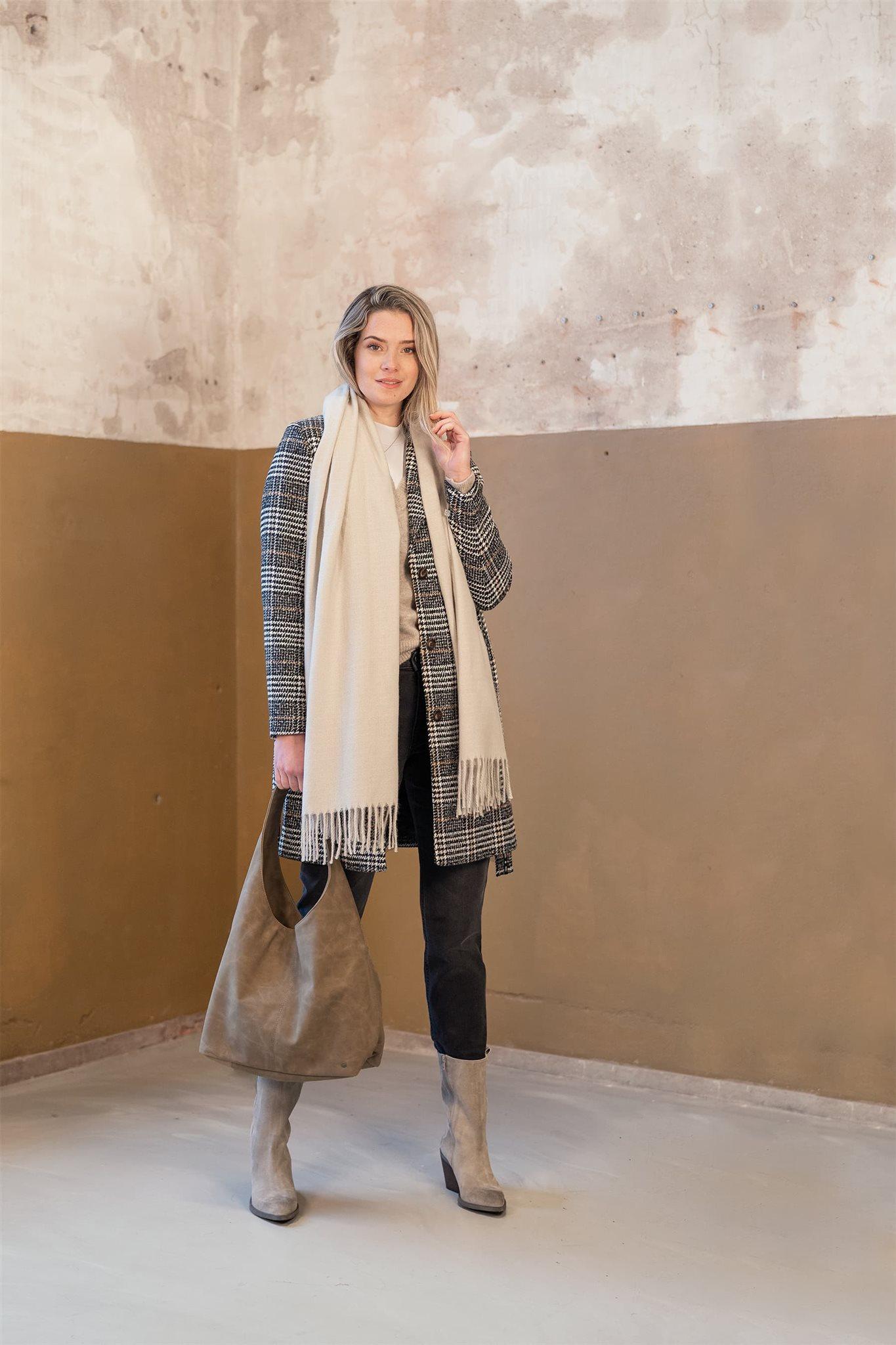 Sjaal basic met franjes