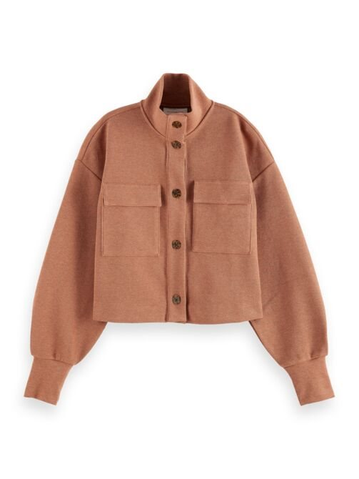 Sweat button-up