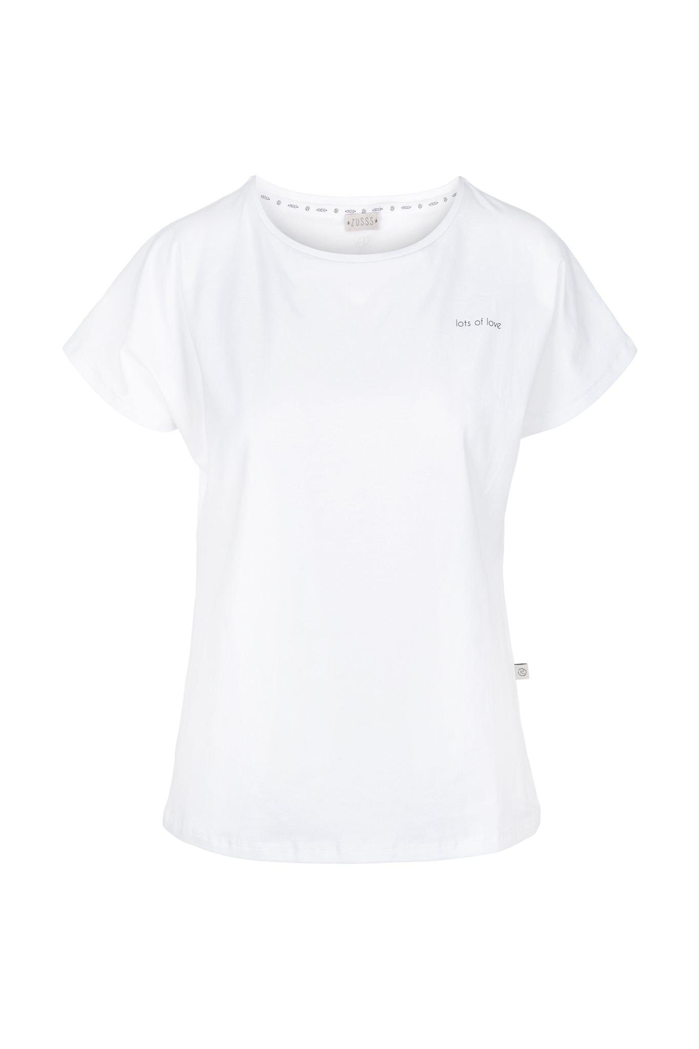 T-shirt basic met ronde hals